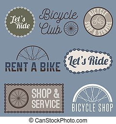 vector, fiets, bedrijfsteken