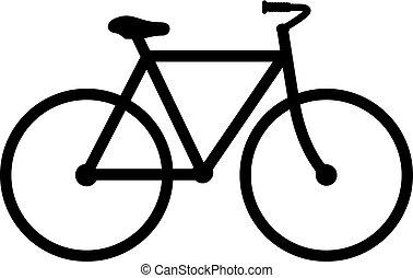 vector, fiets, pictogram