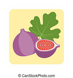 Vector fig icon, flat design