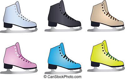Vector  figure skates