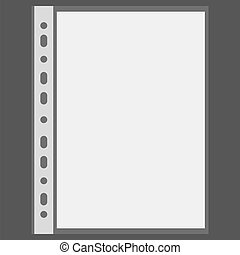 Vector file and blank sheet with place for your text
