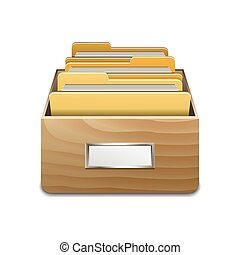 Vector File Cabinet with Documents