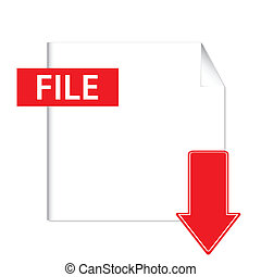Vector file download button