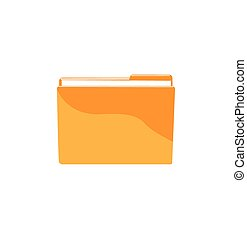 Vector file folder with documents