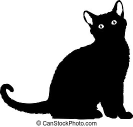 vector file of a black cat silhouette