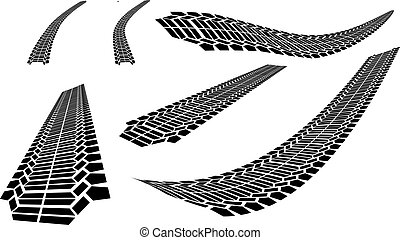vector file of tyre marks