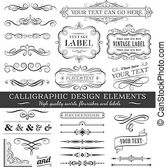 Vector Filigree Flourishes Design Set