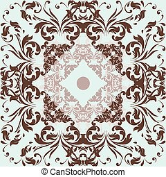 Vector filigree pattern with swirl ornament.eps