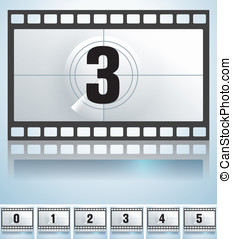 film countdown  - vector film countdown and button