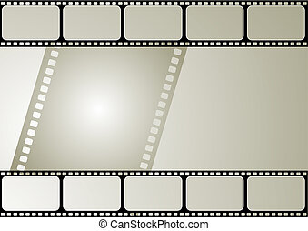 Vector film frame - Computer designed editable vector film ...