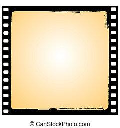 vector film frame in grunge style