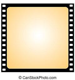 vector film frame - vignette
