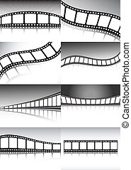 Vector film roll backgrounds collection