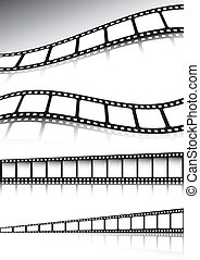 Vector film strip background illust