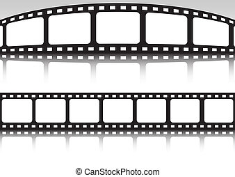 Vector film strip double set