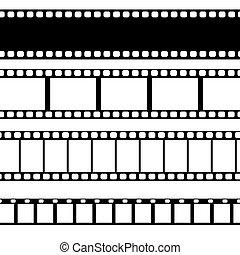 Vector film strip illustration.