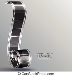 vector film strip in 3d style