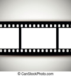 vector film strip on a white background