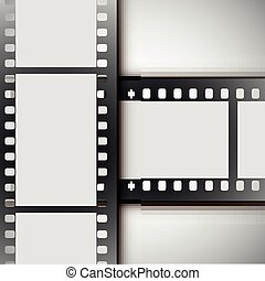 vector film strip on a white background.