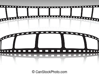 Vector film strip set of background