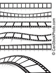 Vector film strip various backgroun