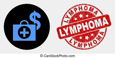 Vector Financial Medical Case Icon and Scratched Lymphoma ...