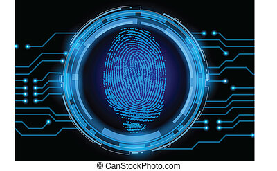 vector finger print on electronic circuit
