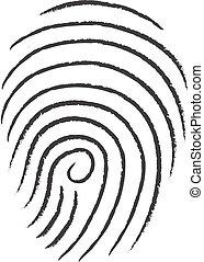 vector finger print sketch illustration