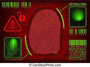 Vector Fingerprint - Concept of security system, advanced...