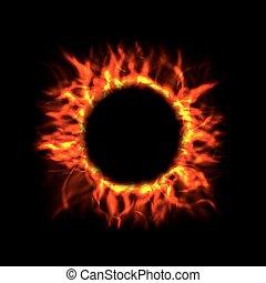Vector Fire Circle