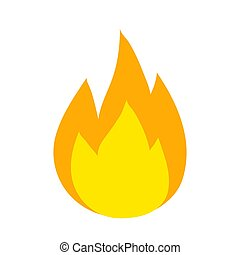 vector fire flames sign illustration isolated, stock vector ...