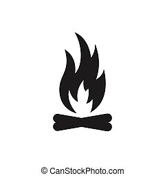 Vector Fire Icon - Vector Illustration of a Fire Icon