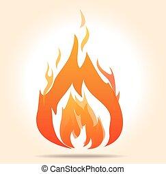 vector fire symbol