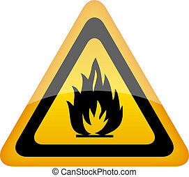 Vector fire warning sign