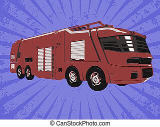 Vector firetruck