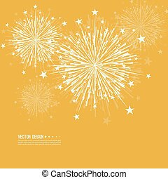 Vector firework design.