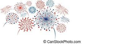 Vector firework design isolated on white background