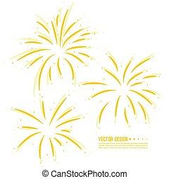 Vector firework design