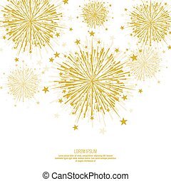 Vector firework design.