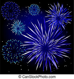 Vector fireworks - Abstract vector illustration of fireworks...