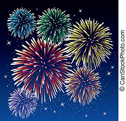 fireworks - vector fireworks background