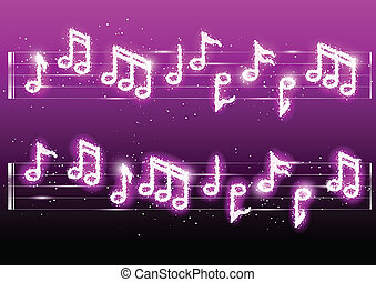 Vector fireworks musicnotes - Vector illustration of...