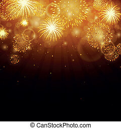 Vector Fireworks - Vector Illustration of Fireworks