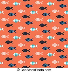 Vector fish seamless pattern.