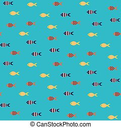 Vector fish seamless pattern.