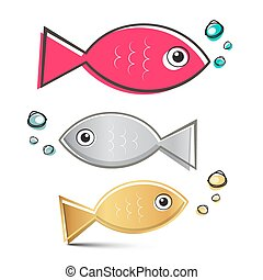 Vector Fish Set