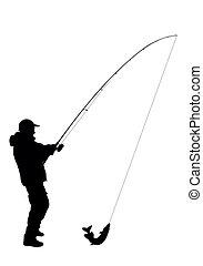 Vector - Fishing - Fishing background in the vectors