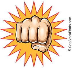 Vector fist illustration
