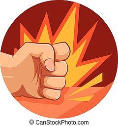 Vector fist strike