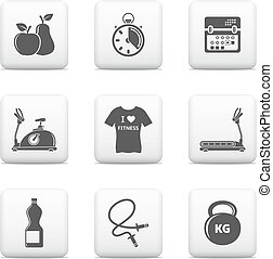 Vector fitness icons